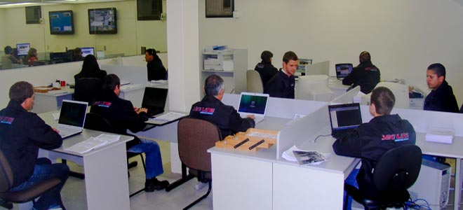 equipe de monitoramento